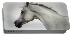 Portable Battery Charger featuring the photograph Arabian Horse Portrait by Dimitar Hristov