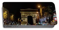Portable Battery Charger featuring the photograph Arc De Triomphe by Randy Scherkenbach
