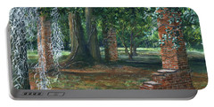 Ardoyne Ruins Near The Mansion, Houma, Louisiana Portable Battery Charger