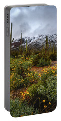 Arizona Flowers And Snow Portable Battery Charger
