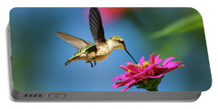 Portable Battery Charger featuring the photograph Art Of Hummingbird Flight by Christina Rollo