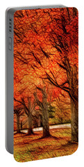 Artistic Four Fall Trees Portable Battery Charger