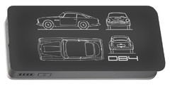 Aston Martin Db4 Blueprint Portable Battery Charger
