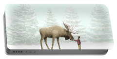 Winter Moose Portable Battery Charger