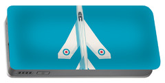 English Electric Lightning Fighter Jet Aircraft - Blue Portable Battery Charger