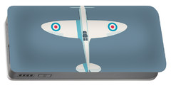 Supermarine Spitfire Wwii Fighter Aircraft - Slate Portable Battery Charger