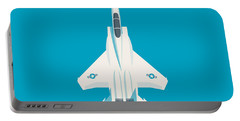 F15 Eagle Fighter Jet Aircraft - Blue Portable Battery Charger