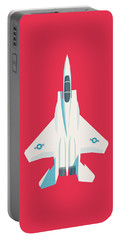 F15 Eagle Fighter Jet Aircraft - Crimson Portable Battery Charger
