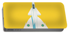 J37 Viggen Swedish Air Force Fighter Jet Aircraft - Yellow Portable Battery Charger
