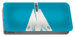 F14 Tomcat Fighter Jet Aircraft - Cyan Portable Battery Charger