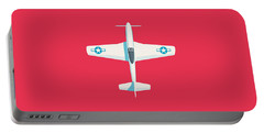 P51 Mustang Fighter Aircraft - Crimson Portable Battery Charger