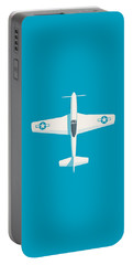 P51 Mustang Fighter Aircraft - Cyan Portable Battery Charger