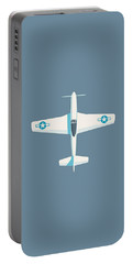 P51 Mustang Fighter Aircraft - Slate Portable Battery Charger