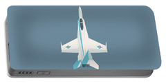 F-18 Hornet Jet Fighter Aircraft - Slate Portable Battery Charger