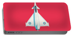 Typhoon Jet Fighter Aircraft - Crimson Portable Battery Charger