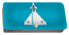 Typhoon Jet Fighter Aircraft - Cyan Portable Battery Charger