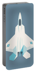 F22 Raptor Jet Fighter Aircraft - Slate Portable Battery Charger
