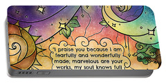 Fearfully And Wonderfully Made By Him Portable Battery Charger