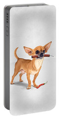Portable Battery Charger featuring the digital art Spicy Wordless by Rob Snow