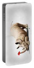 Portable Battery Charger featuring the digital art Horny Wordless by Rob Snow