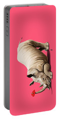 Portable Battery Charger featuring the digital art Horny Colour by Rob Snow