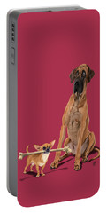 Portable Battery Charger featuring the digital art The Long And The Short And The Tall Colour by Rob Snow