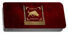 Early Standard Of The Sixth Ironclad Legion - Bull Vexillum Of Legio Vi Ferrata Portable Battery Charger