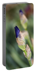 Budding Beautiful Iris Blue Portable Battery Charger