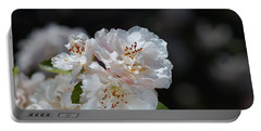 The Ageing Spring Flowers White Portable Battery Charger