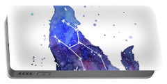 Galaxy Wolf - Lupus Constellation Portable Battery Charger