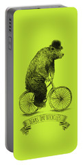 Bears On Bicycles - Lime Portable Battery Charger