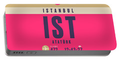 Retro Airline Luggage Tag - Ist Istanbul Airport Portable Battery Charger