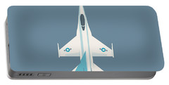 F-16 Falcon Fighter Jet Aircraft - Slate Portable Battery Charger