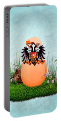 Happy Easter Habsburg Double-headed Eagle Portable Battery Charger
