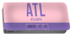 Retro Airline Luggage Tag 2.0 - Atl Atlanta United States Portable Battery Charger