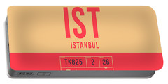 Retro Airline Luggage Tag 2.0 - Ist Istanbul Turkey Portable Battery Charger