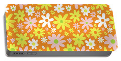 Flower Power Pattern Portable Battery Charger