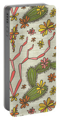 Flowering Cacti Elements Portable Battery Charger