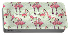 Flamingo Pattern Portable Battery Charger