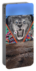 Detroit's Lion Mural Portable Battery Charger