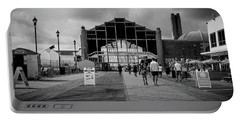 Portable Battery Charger featuring the photograph Asbury Park Boardwalk by Steve Stanger