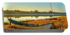 Boats In The Marsh Grass, Ogunquit River Portable Battery Charger