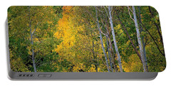 Aspens In Yellow Portable Battery Charger