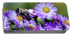 Asters And Bee Portable Battery Charger