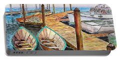At The Dock In Gloucester Massachusetts Portable Battery Charger
