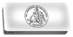 Athenaeum Of Philadelphia Logo Portable Battery Charger