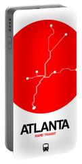 Atlanta Red Subway Map Portable Battery Charger