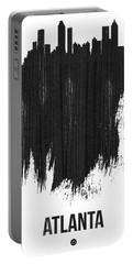 Atlanta Skyline Brush Stroke Black Portable Battery Charger