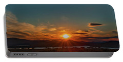 Attean Pond Sunset Portable Battery Charger