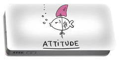 Attitude - Baby Room Nursery Art Poster Print Portable Battery Charger